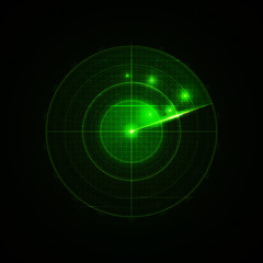 Realistic vector radar in searching