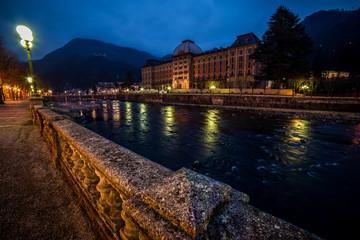 Fotomurales - San Pellegrino Terme Bergamo Lombardia Italy at blue hour