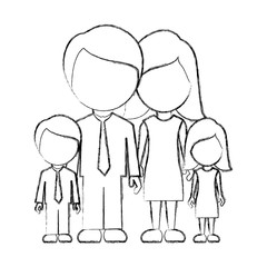 figure family with their children icon, vector illustraction design