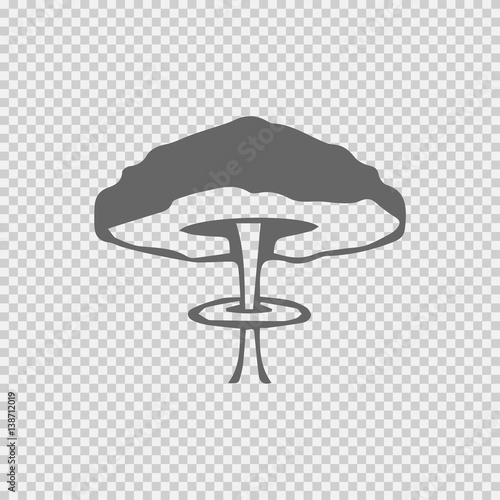 """Mushroom cloud nuclear explosion vector icon eps 10. War ... Mushroom Cloud White Background"