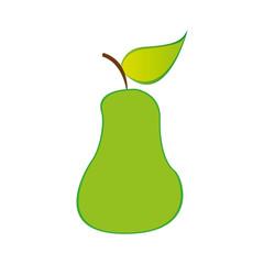 pear fruit icon stock, vector illustration design