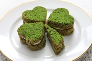 shamrock green cake, homemade dessert for saint patrick's day
