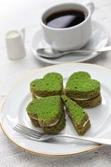 shamrock green cake, homemade dessert for saint patrick's day