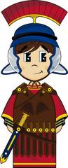 Cute Cartoon Roman Centurion Soldier
