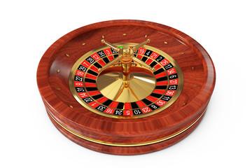 Casino Roulette Wheel. 3d Rendering