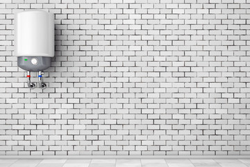 Modern Automatic Water Heater. 3d Rendering