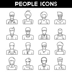people avatar , user icons