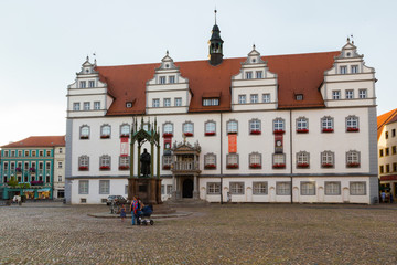 Rathaus mit Melanchthon