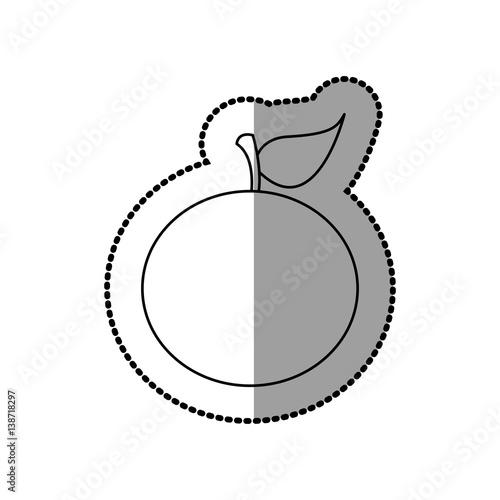 Figure colorful orange fruit icon stock vector illustration design quo - Figure libre architecture ...