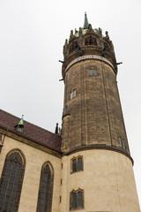 Runder Turm der Schlosskirche in Wittenberg