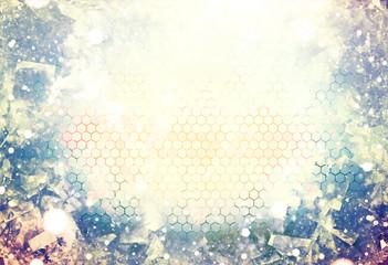 illustration honeycomb festive colors background