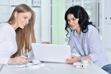 two young girls working