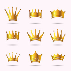 Vector Illustration of Crown Icons