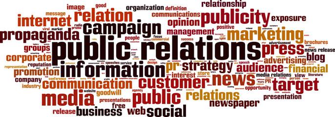 Public relations word cloud