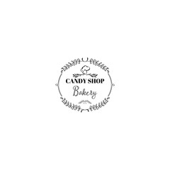 Badge set for small businesses - sweet bakery. The pattern printing plate handmade works written by hand font. It can be used in a corporate style, prints, for your design