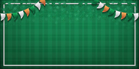 Vector green background for St. Patrick's Day.