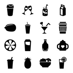Set of 16 juice filled icons