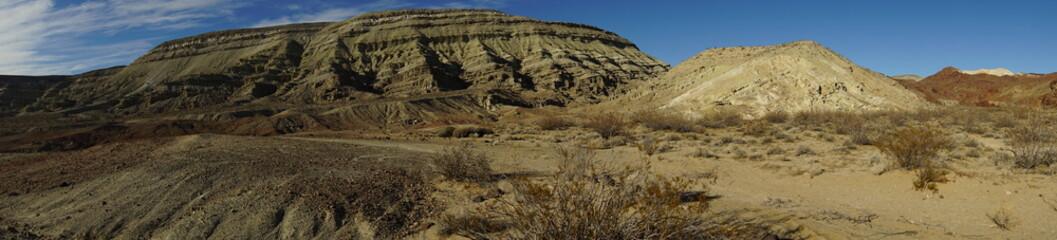 Panorama of the Mojave desert