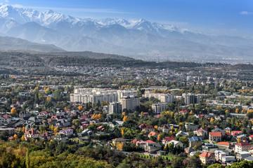 Urban landscape in Almaty