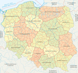 Vector map of Poland administrative division vol.4