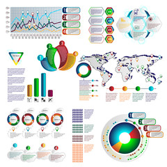 color infographics with different individual elements