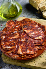 slices of spanish chorizo