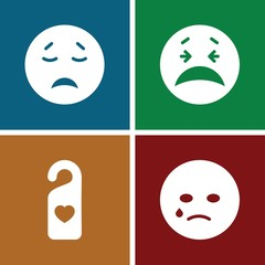Set of 4 facebook filled icons