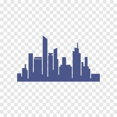 city silhouette icon vector