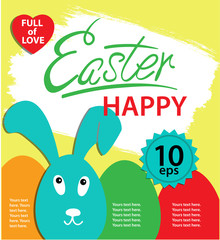 Happy Easter poster.