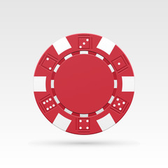 Red casino chips.