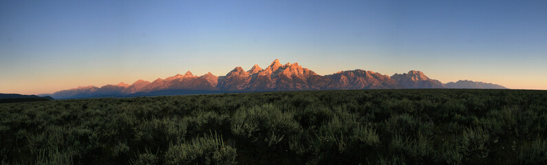 Teton sunrise panorama Wall mural