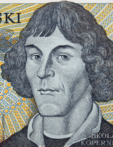 nicolaus copernicus face portrait on poland zloty. Black Bedroom Furniture Sets. Home Design Ideas