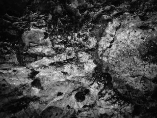 Natural black rock stone surface granite abstract backdrop textured background