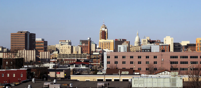 Lansing, Michigan Skyline