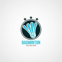 Badminton Logo Design Template