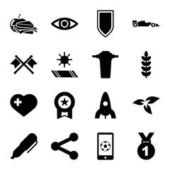 Set of 16 emblem filled icons