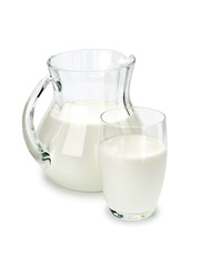 Ware from the glass, filled with milk