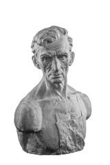White plaster bust, sculptural portrait of the Master