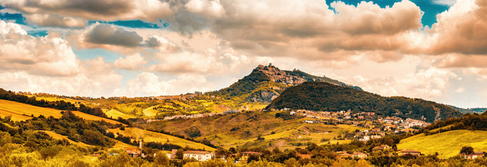 countryside of Romagna in Italy