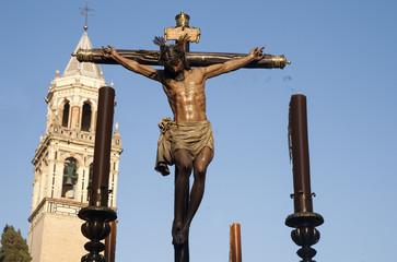 Fototapete - hermandad del cristo de Burgos, semana santa de Sevilla