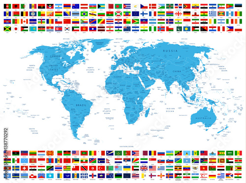 All country flags and world map stock image and royalty free vector all country flags and world map gumiabroncs Choice Image