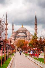 Deurstickers Turkije The Blue Mosque, (Sultanahmet Camii), Istanbul, Turkey.
