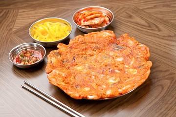 Korean-style Kimchi Pancake