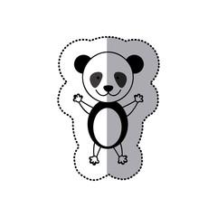 sticker colorful picture cute panda animal vector illustration