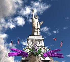 3d three-dimensional, Statue of Liberty