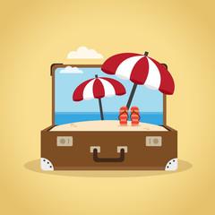 Suitcase, travel concept illustration
