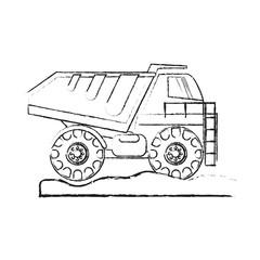 dump truck heavy construction machinery icon image vector illustration design