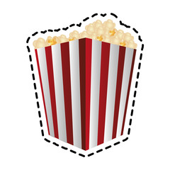 popcorn bucket icon image vector illustration design