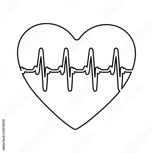 Figure symbol heartbeat icon stock vector illustration design image qu - Figure libre architecture ...