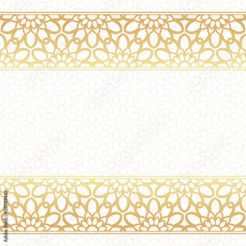 Invitation card vector template lacy background with golden borders invitation card vector template lacy background with golden borders stopboris Choice Image